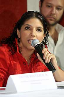 María González, vocera del Imdec.