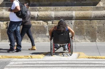 Gente con capacidades diferentes. Foto Arturo Campos Cedillo.